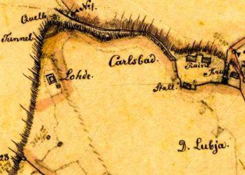 Kaardi väljalõige aastast 1896. Eesti Ajalooarhiiv